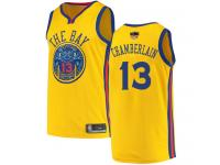 #13  Wilt Chamberlain Gold Basketball Men's Jersey Golden State Warriors City Edition 2019 Basketball Finals Bound