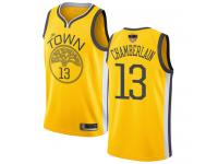 #13  Wilt Chamberlain Yellow Basketball Men's Jersey Golden State Warriors Earned Edition 2019 Basketball Finals Bound