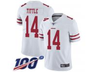 #14 Limited Y.A. Tittle White Football Road Men's Jersey San Francisco 49ers Vapor Untouchable 100th Season