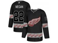 #22 Adidas Authentic Wade Megan Men's Black NHL Jersey - Detroit Red Wings Team Logo Fashion