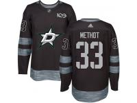 #33 Authentic Marc Methot Black Adidas NHL Men's Jersey Dallas Stars 1917-2017 100th Anniversary