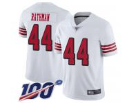 #44 Limited Tom Rathman White Football Men's Jersey San Francisco 49ers Rush Vapor Untouchable 100th Season