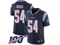 #54 Limited Tedy Bruschi Navy Blue Football Home Men's Jersey New England Patriots Vapor Untouchable 100th Season