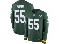 #55 Limited Za'Darius Smith Green Football Men's Jersey Green Bay Packers Therma Long Sleeve