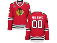 Chicago Blackhawks Reebok Women's 2015 Stanley Cup Champions Premier Custom Jersey - Red