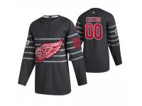 Detroit Red Wings #00 Custom 2020 NHL All-Star Game Gray Jersey Men's