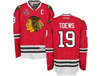 Jonathan Toews Chicago Blackhawks Reebok 2015 Stanley Cup Champions Premier Home Jersey - Red