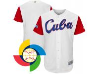 Men 2017 World Baseball Classic Cuba White Authentic Team Jersey