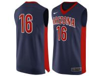 Men Arizona Wildcats #16 Nike Replica Jersey - Navy