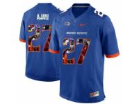 Men Boise State Broncos #27 Jay Ajayi Blue With Portrait Print College Football Jersey