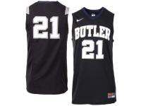 Men Butler Bulldogs #21 Nike Replica Master Jersey - Black