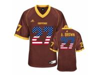 Men Cent. Michigan Chippewas #27 Antonio Brown Maroon USA Flag College Football Jersey