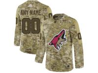Men NHL Adidas Arizona Coyotes Customized Limited Camo Salute to Service Jersey