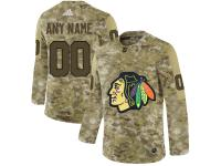 Men NHL Adidas Chicago Blackhawks Customized Limited Camo Salute to Service Jersey