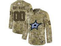 Men NHL Adidas Dallas Stars Customized Limited Camo Salute to Service Jersey