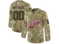 Men NHL Adidas Detroit Red Wings Customized Limited Camo Salute to Service Jersey