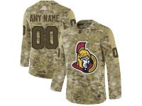 Men NHL Adidas Ottawa Senators Customized Limited Camo Salute to Service Jersey