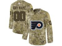 Men NHL Adidas Philadelphia Flyers Customized Limited Camo Salute to Service Jersey