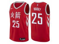 Men Nike Houston Rockets #25 Robert Horry  Red NBA Jersey - City Edition