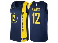 Men Nike Indiana Pacers #12 Tyreke Evans Navy Blue NBA Jersey - City Edition