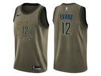 Men Nike Indiana Pacers #12 Tyreke Evans Swingman Green Salute to Service NBA Jersey
