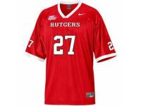 Men Nike Rutgers Scarlet Knights #27 Ray Rice Red With Big East Patch Authentic NCAA Jersey