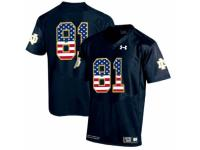 Men Notre Dame Fighting Irish No.81 Fan Navy USA Flag College Football Jersey