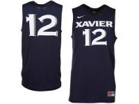 Men Xavier Musketeers #12 Nike Replica Basketball Jersey - Navy Blue