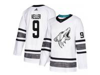Men's Arizona Coyotes #9 Clayton Keller Adidas White Authentic 2019 All-Star NHL Jersey