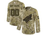 Men's Arizona Coyotes Adidas Customized Limited 2019 Camo Salute to Service Jersey