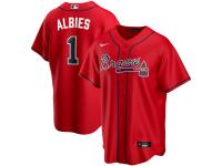 Men's Atlanta Braves Ozzie Albies Nike Red Alternate 2020 Player Jersey