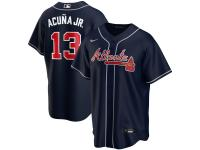 Men's Atlanta Braves Ronald Acuna Jr. Nike Navy Alternate 2020 Player Jersey