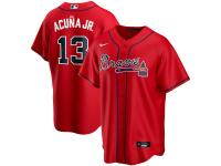 Men's Atlanta Braves Ronald Acuna Jr. Nike Red Alternate 2020 Player Jersey