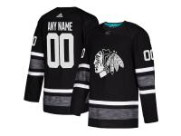 Men's Chicago Blackhawks adidas Black 2019 NHL All-Star Game Parley Authentic Custom Jersey
