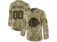 Men's Chicago Blackhawks Adidas Customized Limited 2019 Camo Salute to Service Jersey