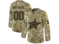 Men's Dallas Stars Adidas Customized Limited 2019 Camo Salute to Service Jersey