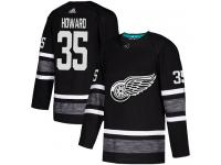 Men's Detroit Red Wings #35 Jimmy Howard Adidas Black Authentic 2019 All-Star NHL Jersey