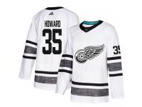 Men's Detroit Red Wings #35 Jimmy Howard Adidas White Authentic 2019 All-Star NHL Jersey