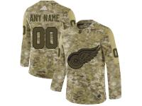Men's Detroit Red Wings Adidas Customized Limited 2019 Camo Salute to Service Jersey