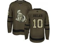 Men's Hockey Ottawa Senators #10 Anthony Duclair Jersey Green Salute to Service