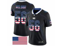 Men's Indianapolis Colts #56 Quenton Nelson Limited Black Rush USA Flag Football Jersey