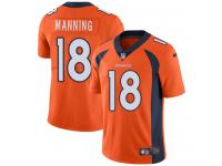 Men's Limited Peyton Manning #18 Nike Orange Home Jersey - NFL Denver Broncos Vapor Untouchable