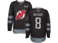 Men's New Jersey Devils #8 Will Butcher Adidas Black Authentic 1917-2017 100th Anniversary NHL Jersey
