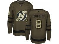 Men's New Jersey Devils #8 Will Butcher Adidas Green Authentic Salute To Service NHL Jersey