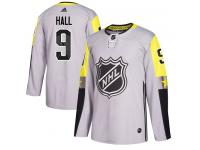 Men's New Jersey Devils #9 Taylor Hall Adidas Gray Authentic 2018 All-Star Metro Division NHL Jersey