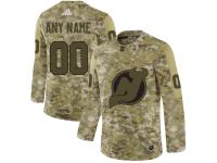 Men's New Jersey Devils Adidas Customized Limited 2019 Camo Salute to Service Jersey