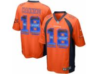 Men's Nike Denver Broncos #18 Peyton Manning Limited Orange Strobe NFL Jersey