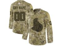 Men's Ottawa Senators Adidas Customized Limited 2019 Camo Salute to Service Jersey