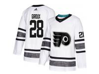 Men's Philadelphia Flyers #28 Claude Giroux Adidas White Authentic 2019 All-Star NHL Jersey