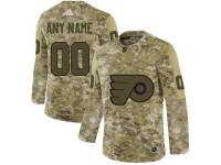 Men's Philadelphia Flyers Adidas Customized Limited 2019 Camo Salute to Service Jersey